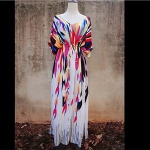 5⭐️Fave!! The Vibe Summer Kaftan CoverupBoutique for sale